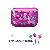 Smiggle Hardtop Pencil Case - purple forest+Surprise gifts