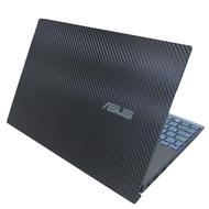 【Ezstick】ASUS UX481 UX481FL 黑色立體紋機身貼(含上蓋貼、底部貼)