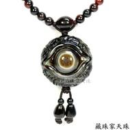 【藏珠家】精品35mm財咒天眼+八大吉祥圖天眼天珠項鍊