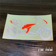 反光屋FKW TIGRA 彪虎 彪虎200 PGO TIGRA200 機車車型反光貼紙 獨家設計製作販售 仿冒必究