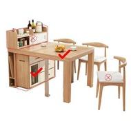 可折疊餐桌省空間小戶型家用桌伸縮桌子多功能帶電磁爐隱形餐邊櫃