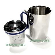 ■川鈺■ 茶杯 保溫杯 台灣製 350ml 304不鏽鋼 泡茶不鏽鋼杯 個人杯附濾網 辦公室泡茶保溫杯*1入