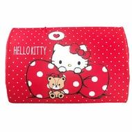 小禮堂 Hello Kitty 方形棉質枕頭 兒童枕頭 記憶枕 午睡枕 (紅白 點點)