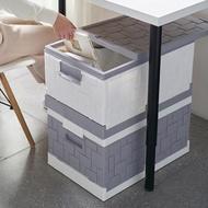 【IDEA】含蓋按扣便攜式摺疊收納箱/多功能車用置物箱
