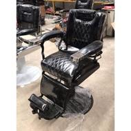 💥ลดราคา💥เก้าอี้บารร์เบอร์ เก้าอี้ตัดผมชายสีดำขาสีดำขาสีขาว