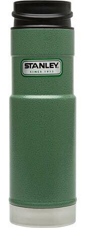 ├登山樂┤ 美國 Stanley 經典系列 單手保溫咖啡杯 0.59L-錘紋綠 # 10-01568-GN