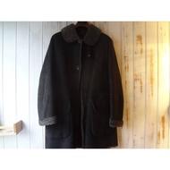 Marlboro Classics MCS 近新品限量原廠匈牙利製黑色麂皮美麗諾羊毛頂級皮草獵裝皮衣L號(2791)