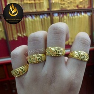แหวนทองแท้ 96.5% แหวนทองครึ่งสลึง ลายจีน