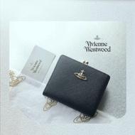 Vivienne Westwood  真皮圓釦十字紋短夾