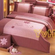 =YvH=Smart 台灣製精品 粉色 玫瑰 幸運草 楓葉 鋪棉床罩兩用組 100%精梳純棉 雙人 加大 特大