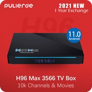 New H96 Max 3566 (Preintall 10k Channels/Movies) 8GB 64GB TV Box RK3566 Android 11.0 8K/4K 2.4G/5G WiFi Bluetooth 4.0 1000M Ethernet PULIERDE Smart Android box IPTV Singapore