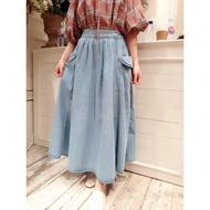 韓國女裝預購-2020春裝新款--RARA兩側口袋牛仔裙