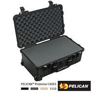 美國 PELICAN 1510 輪座拉桿氣密箱-含泡棉(黑)