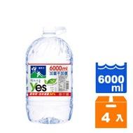 悅氏 礦泉水 6000ml (2入)x2箱