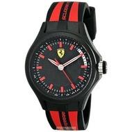 2016新款法拉利手錶時尚精品錶PIT CREW款,編號:840002,黑色錶面紅黑色矽膠錶帶款