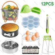 12pcs Instant Pot Accessories Set Steamer Egg Rack Instant Pot