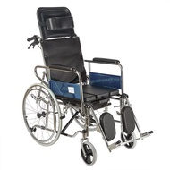 Reclining Commode Wheelchair Rios for Adult Foldable Commode Wheelchair High Back Recline