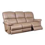 La-Z-Boy 全牛皮搖椅式劇院組三人座沙發 深褐