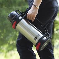 現貨保溫瓶不銹鋼大容量便攜保溫壺家用車載水杯2升熱水壺3000ml戶外旅行瓶