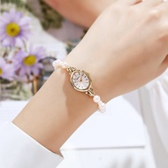 Spot Japanese agete natural freshwater pearl bracelet watch classic retro mother-of-pearl oval watch female