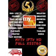 FREE TRIAL LIFETIME MYTV IPTV | MYTV HD FULL XSSTRO 1000+ Live Channel dan 8K+ Movies
