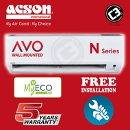 ◘(KLANG VALLEY) Acson 1.0HP 1.5HP 2.0HP 2.5HP Aircond AVO Series - Non Inverter (R32)