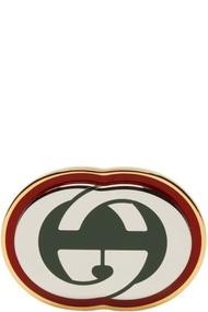 GUCCI 金色 & 绿色 GG 戒指 金色 & 绿色 GG 戒指