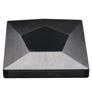 External 3D Blu Ray DVD Drive Burner, Wihool Ultra Slim USB 3.0 and Type-C Blu Ray BD CD DVD Burner Player Writer Reader Disk for Mac OS, Windows Xp/7/8/10, Laptop PC (Black)