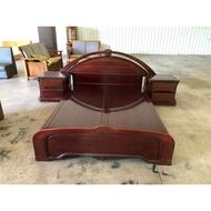大高雄冠均二手家具---【花梨木】 5*7 雙人加大 花梨床組3件組 雙人床架 雙人床組 便宜出清