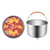 304 Stainless Steel Rice Cooker Steam Basket Pressure Cooker Anti-scald Steamer Multi-Function Basket
