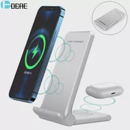 Charging-Stand Airpods iPhone 12 Samsung S21 Galaxy Wireless-Charger QI Foldable 25W