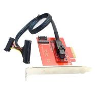 NVMe M.2 NGFF Key M SSD轉PCIe x4 3.0轉接卡 配intel 750轉接線