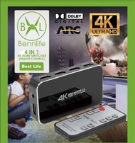 EzbuyHK - Bennlife賓尼生活 4合1輸出HDMI Switch ,4K @ 60Hz超高清HDMI切換器(無線遙控, 一件)