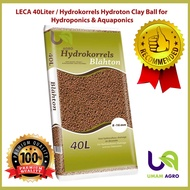 LECA 40 Liter / Hydrokorrels Hydroton Clay Ball for Hydroponics and Aquaponics (8-12mm)
