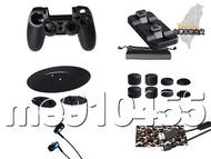 PS4 PRO 15合1配件組 OlVO 座充 ps4耳機 按鍵帽 主機底座 手把套 充電線 PS4痛貼 薄機