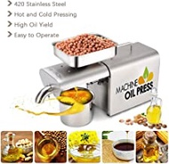 Oil Press Machine, Electric Automatic Cold/Hot Commercial Oil Press Expeller Extractor for Olive Flax Peanut Castor Hemp Seed Canola
