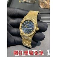 原廠出貨AP 愛彼 JF廠系列 皇家橡樹黃金鑲鑽自動機械錶15451BA.ZZ.1256BA.01