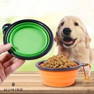 『無名』 攜帶型 寵物水糧杯 外出杯 遛狗 水壺 折疊碗 矽膠碗 寵物水瓶 水杯 水碗 飼料杯 P02118