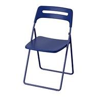 IKEA NISSE 折疊椅, 深藍色/紫色