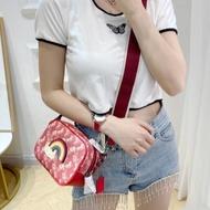 海外代購 coach大logo單層 寬背帶小側背包  附兩條背帶 拼色相機包 女士斜跨包