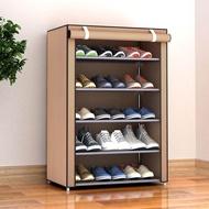 SUNEM ชั้นวางรองเท้า ที่วางรองเท้า ตู้เก็บรองเท้า 5 ชั้น จำนวน 15 คู่ Shoe rack ผ้าคลุม non woven กันน้ำ กันฝุ่น พร้อมช่องเก็บของด้านข้าง ตู้ใส่รองเท้า ตู้เก็บรองเท้า ตู้รองเท้า ตู้วางรองเท้า
