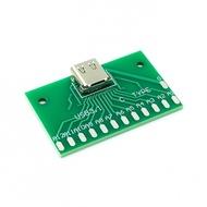 TYPE-C母頭測試板USB 3.1帶PCB板24P母座 連接器轉接板測電流導通