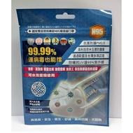 台灣精碳N95口罩 可水洗重複使用 (1入/包)