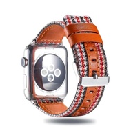 สาย สำหรับ AppleWatch สาย series 1/2/3/4/5/6 SE 38/40/42/44mm สาย W55 /W56 X6 pro Max p90 watch 5 สายหนัง+ผ้า