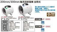 300mm軸流送排風機全閉式JF-300C linc