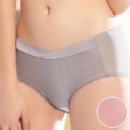 【華歌爾】輕柔記形M-LL中腰蕾絲平口褲(柔粉紅)