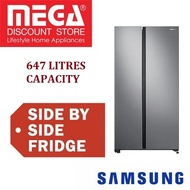 SAMSUNG RS62R5004M9 647L SIDE BY SIDE REFRIGERATOR / FRIDGE / FREE GIFT BY AGENT / LOCAL WARRANTY