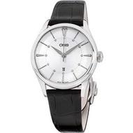 海外限定 Oris Artelier Silver Dial Leather Strap Ladies Watch 56177244051LSBLK