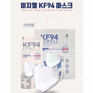 【1 Piece Only】EZWELL / KOREA LIFE 🇰🇷100% Original Made in Korea 🇰🇷 KF94 Premium Face Mask 4 Ply Individual Pack