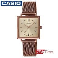 CASIO Standard นาฬิกาข้อมือผู้หญิง สายสแตนเลส รุ่น LTP-E155MR-9BDF (สีโรสโกลด์)
